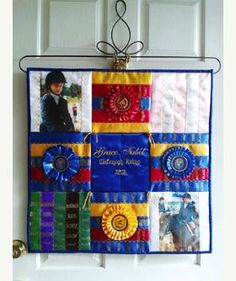 Horse show ribbon idea