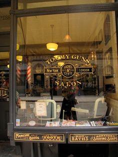 "Image detail for -Leaf Signage, Glass Gilding (""verre églomisé"") and Lettering . Glass Signage, Window Signage, Shop Signage, Classic Restaurant, Barber Shop Decor, Barber Sign, Cafe Concept, Exterior Front Doors, Ideas"