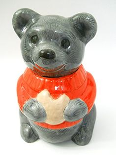 Metlox Gray Teddy Bear Cookie Jar Red Sweater Vintage Gla... https://www.amazon.com/dp/B01JVDEIWC/ref=cm_sw_r_pi_dp_x_S5MPxb9R8SKY2