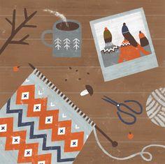 illustration by nastia sleptsova for GAMANKNITS.COM