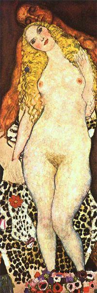 Gustav Klimt (1862-1918). Adam and Eve (unfinished). 1917. Oil on canvas. Österreichische Galerie Belvedere - Vienna - Austria