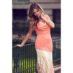 Sunchilled top in Tangerine by Tribal Sportswear found at Beth's Boutique !!