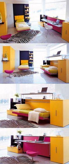 Dormitorio plegable de Clei