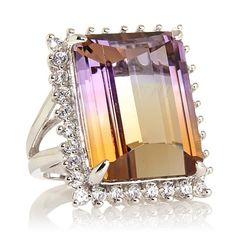 """Colleen Lopez """"Ombre Sunset"""" Ametrine and Zircon Ring Appraisal  $2236"""