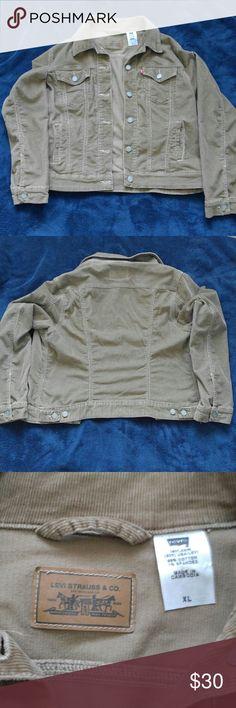 Levis womens corduroy jean jacket XL Levis womens corduroy stretch jean jacket brown XL Levi's Jackets & Coats Jean Jackets