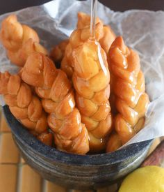 South African Traditional Koeksisters- gooey, sweet and very sticky - crisp on the outside and tender inside.