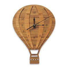 Hot Air Balloon Wooden Wall Clock | Laser cut Nursery & Kids Decor by NestAccessories on Etsy https://www.etsy.com/listing/163271566/hot-air-balloon-wooden-wall-clock-laser
