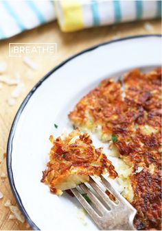 Low Carb Celeriac, Bacon & Parmesan Rosti celeriac, bacon, and parmesan low carb Rosti recipe from I Breathe Im Hungry - perfect for breakfast or dinner! Ketogenic Recipes, Low Carb Recipes, Paleo Recipes, Cooking Recipes, Vitamix Recipes, Low Carb Pancakes, Low Carb Breakfast, Atkins, Lchf