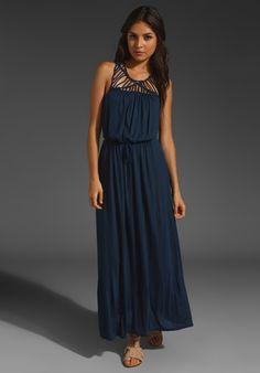 AKIKO Detailed Maxi Dress in Marina