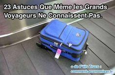 Dans cet article, on a compilé une liste des meilleures astuces et p'tits trucs pour vous aider à éviter l'inévitable : à savoir, tous les problèmes et galères liés aux voyages en avion. Découvrez l'astuce ici : http://www.comment-economiser.fr/23-astuces-que-meme-les-grands-voyageurs-ne-connaissent-pas.html?utm_content=buffer32599&utm_medium=social&utm_source=pinterest.com&utm_campaign=buffer