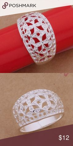 NWT STERLING SILVER FILIGREE RING 7 NWT ladies Sterling silver (#925) filigree ring. Absolutely stunning detail. Comes with gift box size 7 Jewelry