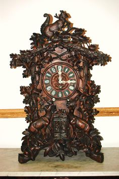 Black Forest Clocks   ... this rare black forest clock this piece was made by emilian wehrle in