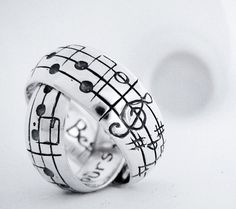 music note rings.