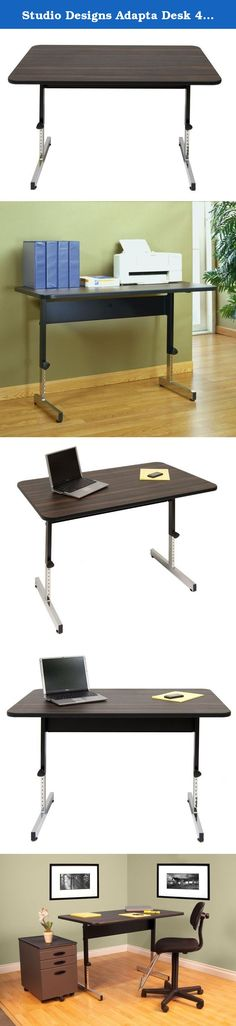 """Studio Designs Adapta Desk 48"""" Desk in Black / Walnut 410380. The Studio Designs Adapta 48-in. Desk - Black/Walnut has a wider surface area, allowing you to store more. Its reliable and adjustable frame allows you to maximize its functionality in your home or office. Adjust the height as necessary and get cracking.About Studio Designs Office Studio Designs has 24 years of experience in the ready-to-assemble Arts and Crafts Furniture and Easel industry. They seek to inspire artists, young…"""