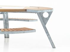 Mesa de picnic con bancos integrados GARGANTUA - Extremis