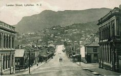 Historic photo of Lyttelton. Christchurch New Zealand, Main Street, Historical Photos, Paris Skyline, Maine, London, History, Country, Places