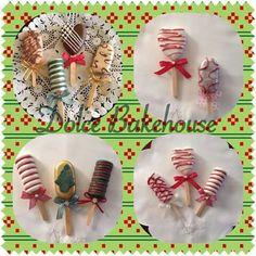 Navideñas Christmas Cake Pops, Christmas Treats, Paletas Chocolate, Magnum Paleta, Monster 2, Ice Cake, Ice Ice Baby, Ice Pops, Candy Apples