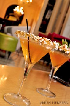 Caramel Popcorn martini. Too sexy. #cocktails #Atlanta #wantnow