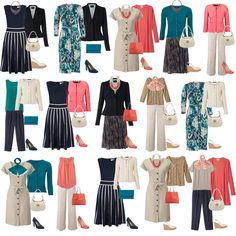 Classy wardrobe especially for sizes 12+. I don't care for the salmon color so I would substitute it with my favorite color