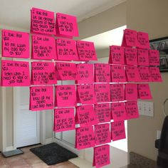 post it notes heart with reasons you love your spouse