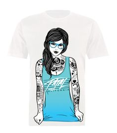 Men's Glasses White Tee by Fatal Clothing