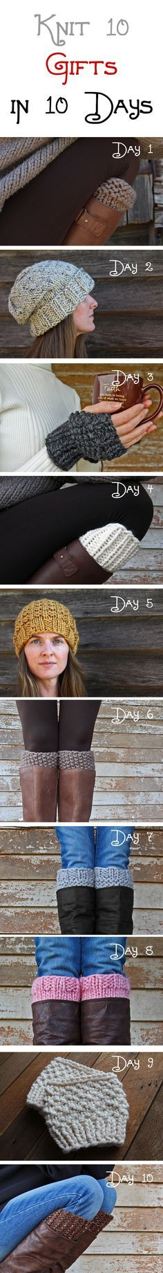 Knit 10 Gifts in 10 Days | Brome Fields - knitting patterns for quick & easy gifts