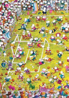 Puzzle Futbol Mordillo ( Ref: 0000029091 ) #futbolchistes