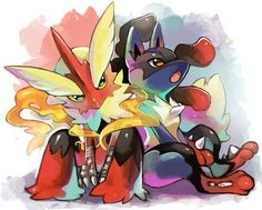 Blaziken+and+Lucario.jpg (500×401)