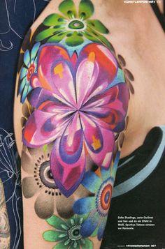 vibrant #Tattoo by Ivana Belakova