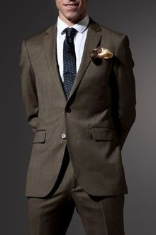 Sweet men's suit from Indochino. A little rich for my blood at this point, but very classy and timeless look. From Steve Nash's line.
