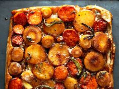 Vegetable Tarte Tatin: The perfect sweet, savory, and impressive-looking brunch recipe!