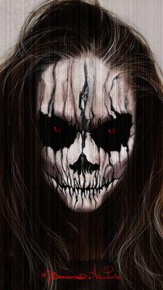Halloween Face Paint by MichaelBroussard on deviantART