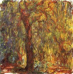 Weeping Willow - Claude Monet Claude Monet, Edgar Degas, Pierre Auguste Renoir, Manet, Monet Paintings, Landscape Paintings, Columbus Ohio, Apple Tree, Fort Worth