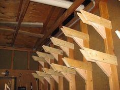 Overhead Wall Lumber Storage