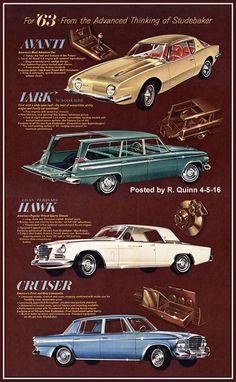 1963 Studebaker car line