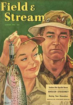Search Field Stream August 1951 Posters, Art Prints, and Canvas Wall Art. Barewalls provides art prints of over 33 Million images. Fishing Rigs, Gone Fishing, Best Fishing, Trout Fishing, Fishing Magazines, Fishing Books, Outdoor Magazine, Fish Silhouette, Vintage Fishing