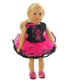 Take a look at this American Fashion World Pink & Fuchsia Bunny Tutu Outfit for 18'' Doll today!