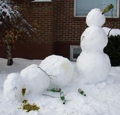 Making snowman is also a kind of activity of people to have some fun and to show their creativity. In this post we brought you some creative snowman.