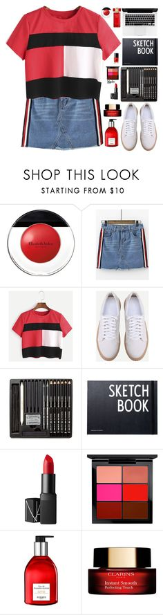 """""""Tommy hilfiger imitation"""" by gabygirafe ❤ liked on Polyvore featuring Elizabeth Arden, Design Letters, NARS Cosmetics, MAC Cosmetics, Hermès, Clarins and Estée Lauder"""