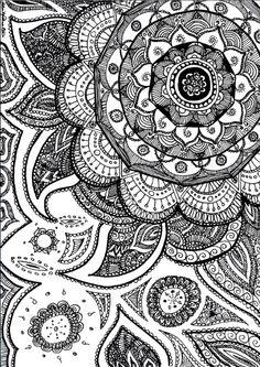 Paisley Mandala Flick Palmateer Etsy Mandala Doodle, Zen Doodle, Colouring Pages, Adult Coloring Pages, Illustrations, Illustration Art, Tattoos Mandalas, Surfboard Decor, Paint Photography