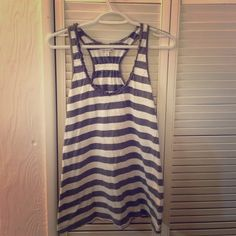 American Eagle gray and white striped tank American Eagle gray and white striped tank American Eagle Outfitters Tops Tank Tops