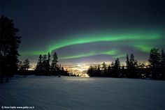 northern lights~ Rovaniemi, Finland  by Roie Galitz