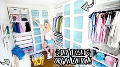 DIY CLOSET LIFE HACKS + ORGANIZATION!! Alisha Marie's Closet Tour!!