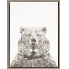 DSOV Sylvie 'Bear Portrait' by Simon Te Tai Framed Photographic Print on Wrapped Canvas
