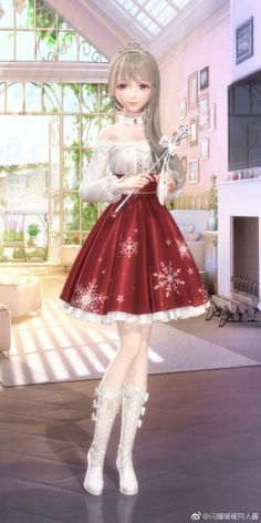 Dress Up Outfits, Anime Outfits, Girl Outfits, Dress Design Drawing, Nikki Love, Fantasy Princess, Fashion Model Poses, Cute Anime Character, 3d Girl