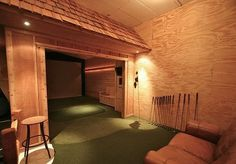 Oh yes! Man cave driving range... essential