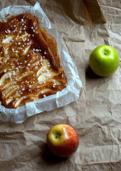 Bolo de maçã e coco