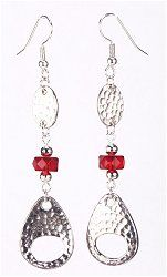 Jewelry Making Idea: Siam Hammertone Earrings (eebeads.com)