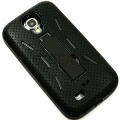 Amazon.com: myLife (TM) Classic Black Shockproof Survivor (Built In Kickstand) Case for the Samsung Galaxy S4, I9500, I9505, SPH-L720, Galax...