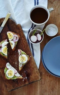 avocado radish toast